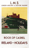 'Rock of Cashel', LMS poster, c 1930s.