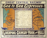 'Sea to Sea Expreses', GCR poster, 1914.