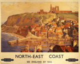 Whitby, BR poster, c 1950s. 'North-East Coa