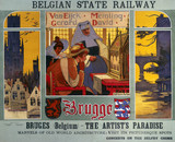 'Brugge: The Artist's Paradise', Belgian State Railway poster, 1911.