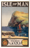 'Isle of Man', LNWR poster, c 1900.