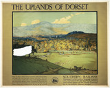 The Uplands of Dorset, SR poster, c 1920s.