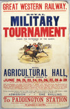 'Royal Military Tournament', GWR poster, c 1920s.