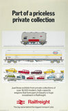 'Part of a Priceles Private Collection - Railfreight', BR poster, 1974.
