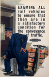 'Examine all Rail Vehicles', BR poster, c 1950.