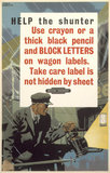 'Help the Shunter', BR poster, c 1948.