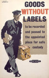 'Goods without Labels', BR staff poster, 1947-1951.
