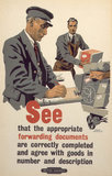 'See that the appropriate...documents...', BR staff poster, 1947-1951.