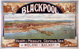 'Blackpool: Health & Pleasure, Glorious Sea', MR poster, c 1893.
