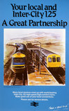 Your Local and Inter-City 125', BR Poster by Vic Millington, c 1980.