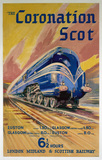 'The Coronation Scot', LMS poster, 1937.