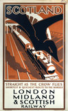 'Scotland - Straight as the Crow Flies', LMS poster, 1923-1947.