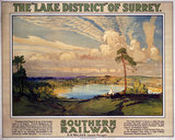 'The Lake District of Surrey', SR poster, 1923-1947.