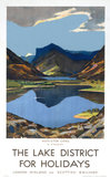 'The Lake District for Holidays', LMS poster, 1923-1939.