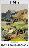 'North Wales for Holidays', LMS poster, 1923-1947.