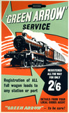 'Green Arrow' Service, BR poster, c 1955.