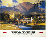 'Wales', British Railways poster, c 1950s.