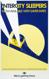 'Intercity Sleepers - Now Available with Saver Fares', BR(CAS) poster, 1986.