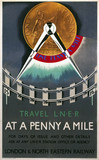 'Travel LNER at a Penny a Mile', LNER poster, c 1932.