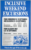 'Inclusive Weekend Excursions', 1983.