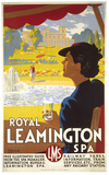 'Royal Leamington Spa', LMS poster, 1937.