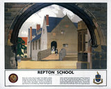 'Repton School', LMS poster, 1938.