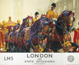 'London for State Occasions', LMS poster, 1930s.