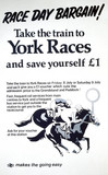 'Take the Train to York Races ', BR poster, 1977.