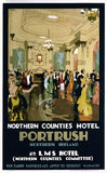'Northern Counties Hotel, Portrush', LMS poster, 1923-1947.