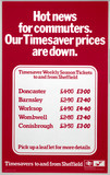 'Hot News for Commuters - Our Timesaver Prices are Down', 1977.