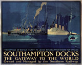 'Southampton Docks: the Gateway to the World', SR poster, 1931.
