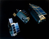 High Energy Astronomy Observatory (HEAO) satellites, 1977.