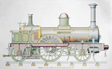 'Jenny Lind' steam locomotive, 1847.