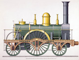 'North Star' 2-2-2 steam locomotive, 1837.