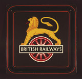 The coat of arms of British Railways, 1950s.