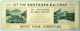 Let the Southern Railway move your furniture. SR carriage advertisement.