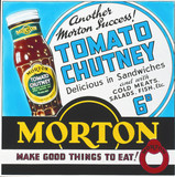 Advertisement for Morton tomato chutney, c 1950s.