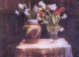 Still life with vases of flowers, 1929.