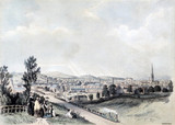 View of Wakefield on the Manchester & Leeds Railway, 1845.