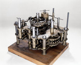 Demonstration model of  Babbage's Difference Engine No 1, 19th century.