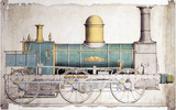 North British Railway locomotive No 31, c 1860.