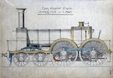 'Waverley' clas 4-4-0 steam locomotive, c 1855.
