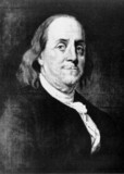 Benjamin Franklin, American theorist on static electricity, c 1760.