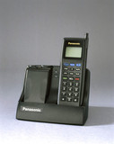 Panasonic I-series ETACS mobile phone with charger, 1993.