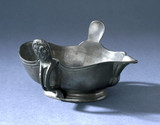 Pewter sauce boat with unknown touchmark, English, 18th century.