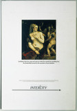 Intercity poster featuring 'Venus with a Mirror' by Titian, 1987-1989.