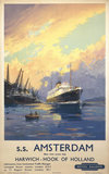 'Harwich - Hook of Holland', British Railways poster, c 1950s.