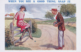 'When You See a Good Thing, Snap it', c 1920s.