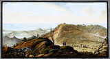 The crater of Monte Gauro, Kindom of Naples, c 1770.