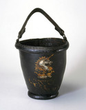 Leather fire bucket, 19th century.